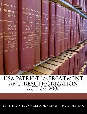USA Patriot Improvement and Reauthorization Act of 2005