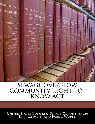 Sewage Overflow Community Right-To-Know ACT