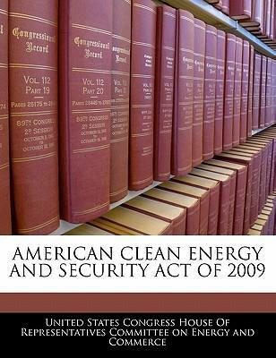 American Clean Energy and Security Act of 2009
