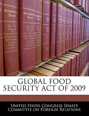 Global Food Security Act of 2009