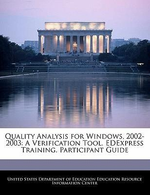 Quality Analysis for Windows, 2002-2003