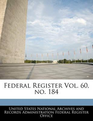 Federal Register Vol. 60, No. 184