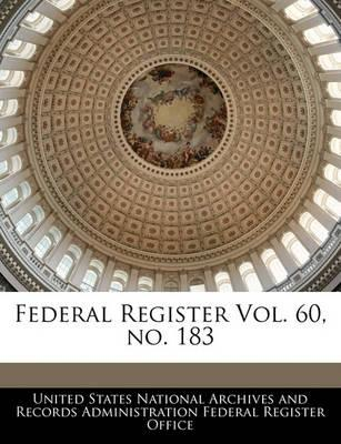 Federal Register Vol. 60, No. 183