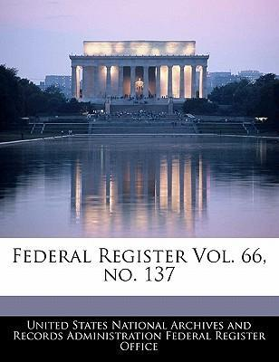 Federal Register Vol. 66, No. 137