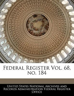 Federal Register Vol. 68, No. 184