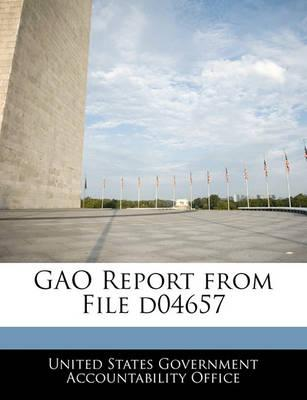 Gao Report from File D04657