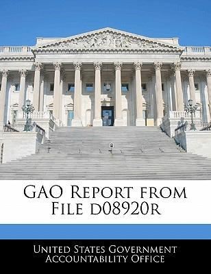 Gao Report from File D08920r