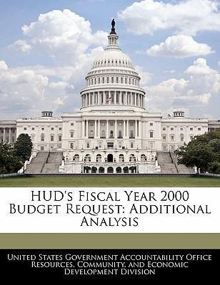 HUD's Fiscal Year 2000 Budget Request