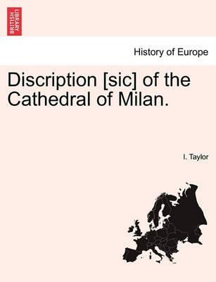 Discription [Sic] of the Cathedral of Milan.