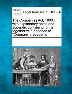 The Companies ACT, 1900