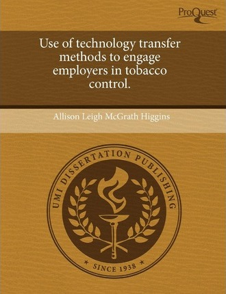 Use of Technology Transfer Methods to Engage Employers in Tobacco Control