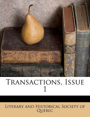 Transactions, Issue 1