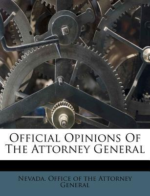 Official Opinions of the Attorney General