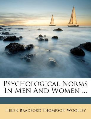 Psychological Norms in Men and Women ...