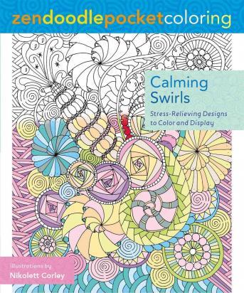 Zendoodle Pocket Coloring Calming Swirls