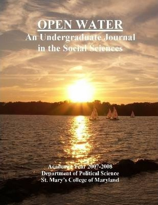 Open Water: An Undergraduate Journal In The Social Sciences