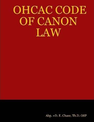 OHCAC Code of Canon Law