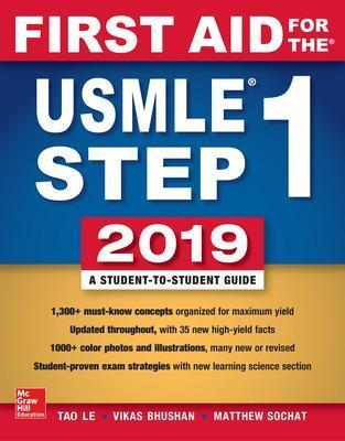 First Aid For The Usmle Step 1 2019 Twenty Ninth Edition Tao Le