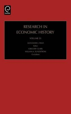 Research in Economic History: (Volume 23, Research in Economic History)