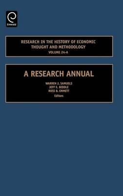 Research in the History of Economic Thought and Methodology, Volume 24 A. a Research Manual.