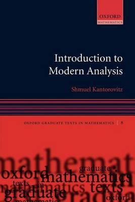 Introduction to Modern Analysis