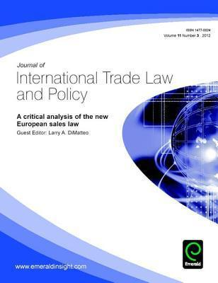 A Critical Analysis of the New European Sales Law