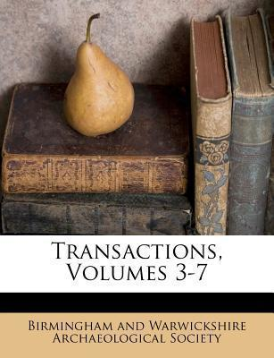 Transactions, Volumes 3-7