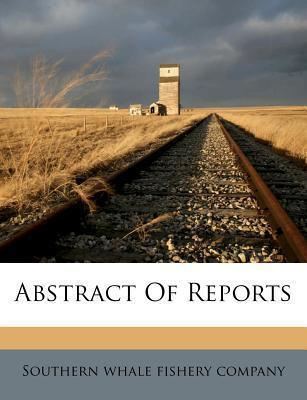 Abstract of Reports