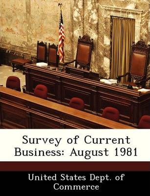 Survey of Current Business  August 1981
