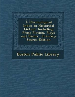 Chronological Index to Historical Fiction