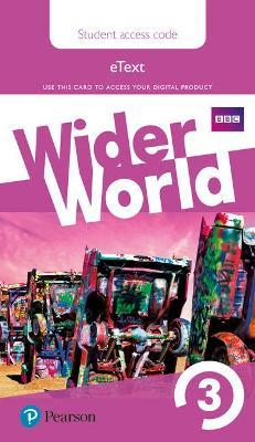 Wider World 3 eBook Students' Access Card