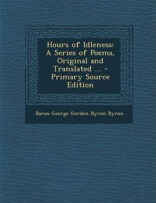 hours of idleness poem