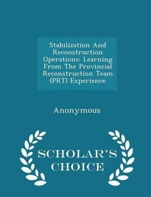 Stabilization and Reconstruction Operations