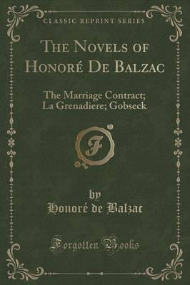 The Novels of Honore de Balzac Cover Image