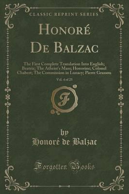 Honore de Balzac, Vol. 4 of 25 Cover Image