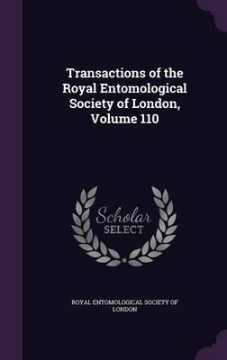 Transactions of the Royal Entomological Society of London, Volume 110