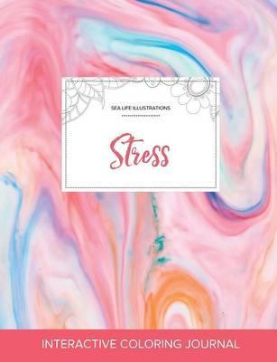 Adult Coloring Journal  Stress (Sea Life Illustrations, Bubblegum)