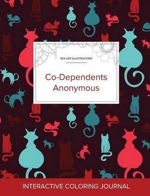 Adult Coloring Journal  Co-Dependents Anonymous (Sea Life Illustrations, Cats)