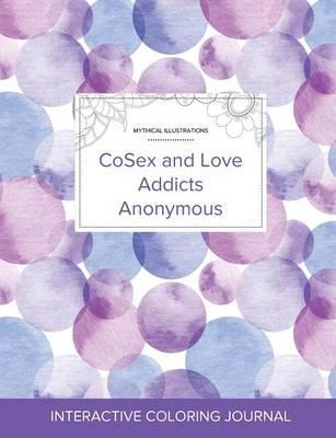 Adult Coloring Journal  Cosex and Love Addicts Anonymous (Mythical Illustrations, Purple Bubbles)