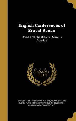 English Conferences of Ernest Renan