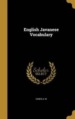English Javanese Vocabulary