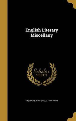 English Literary Miscellany