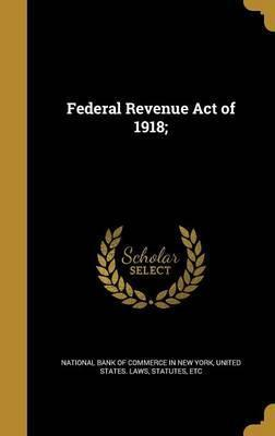 Federal Revenue Act of 1918;