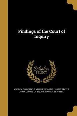 Findings of the Court of Inquiry