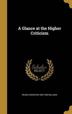 A Glance at the Higher Criticism
