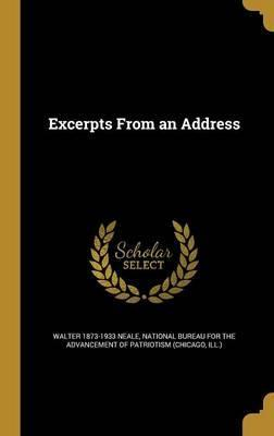 Excerpts from an Address