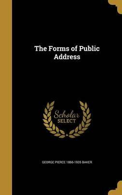 The Forms of Public Address