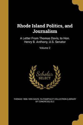 Rhode Island Politics, and Journalism