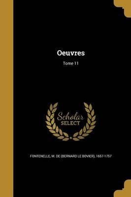 Oeuvres; Tome 11
