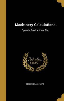 Machinery Calculations